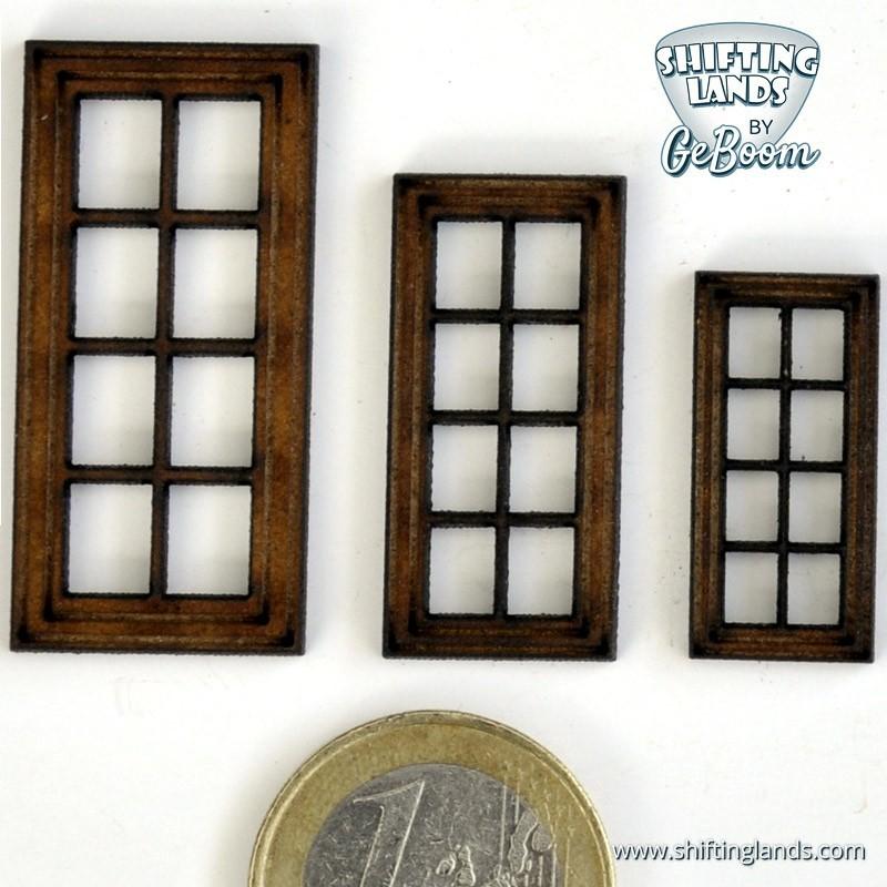 Rectangular window with 8 windowpanes