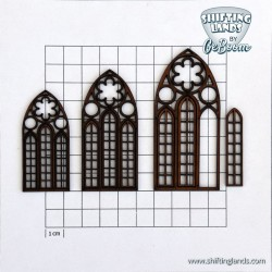 Gothic window with loose inserts