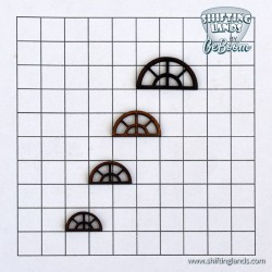 Half round window with 6 small window panes