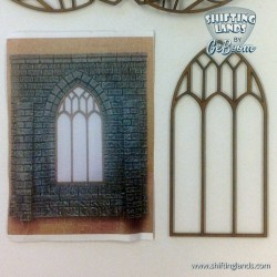 Large Gothic Window with three sections