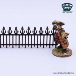 Victorian low leveled fence