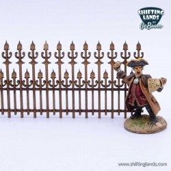 Victorian high leveled fence