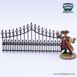 Victorian high curved fence