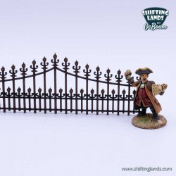 Victorian low curved fence