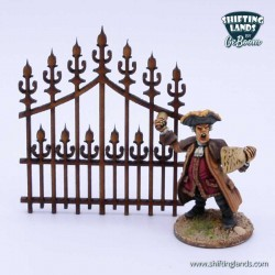 Victorian high curved fence...